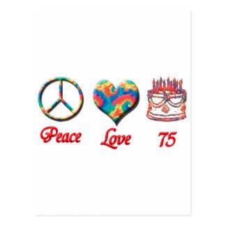 De Liefde en 75 van de vrede Briefkaart