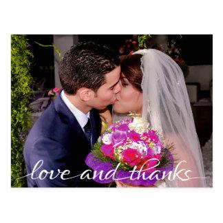 De liefde en de Bruid & Goom van het Bedankt Briefkaart