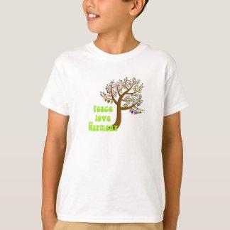 De liefde en de harmonie van de vrede t shirt
