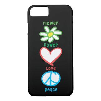 De Liefde en de Vrede van flower power iPhone 8/7 Hoesje