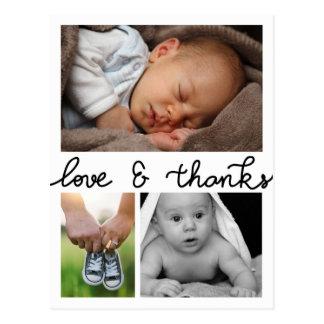 De Liefde en het Bedankt van de Aankondiging van Briefkaart
