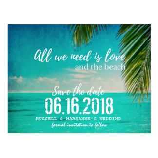 De liefde en het Huwelijk van het Strand bewaren Briefkaart