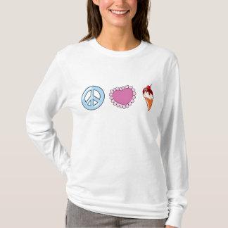 De Liefde en het Roomijs van de vrede T Shirt