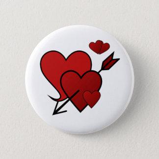 De liefde-geslagen Knoop van het Hart Ronde Button 5,7 Cm