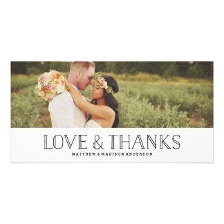 De liefde & het Bedankt Boho   Huwelijk danken u Foto Wenskaarten