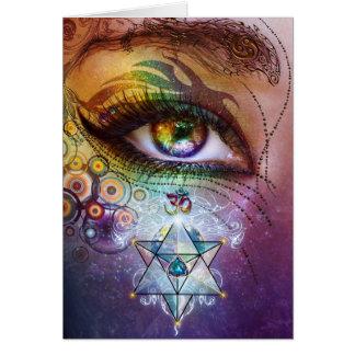 De Liefde & het Licht van het Oog van de regenboog Briefkaarten 0