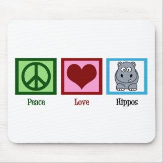 De Liefde Hippos van de vrede Muismatten