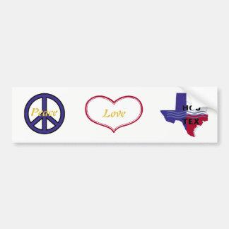 De Liefde Houston van de vrede Bumpersticker