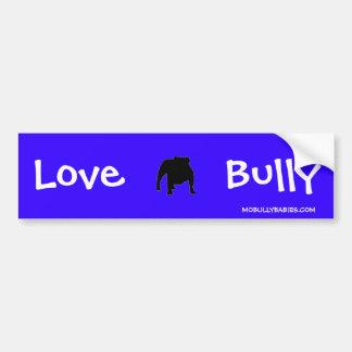 De liefde intimideert de Sticker van de Bumper