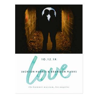De liefde is Aankondigingen van het Huwelijk van Briefkaart