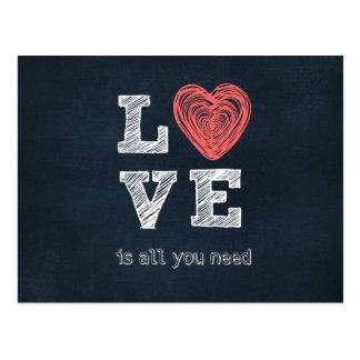 De liefde is allen u Citaat nodig hebt Briefkaart