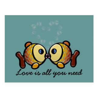 de liefde is allen u wenst briefkaart