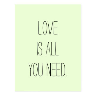 """De """"liefde is Allen u """" wenst Briefkaart"""