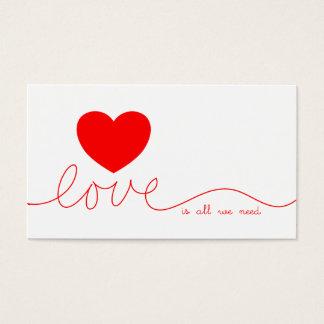 De liefde is Allen wij Hart nodig hebben Visitekaartjes