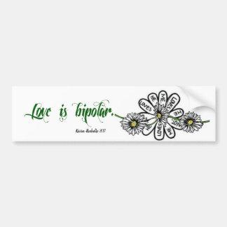 De liefde is de Bipolaire Sticker van de Bumper