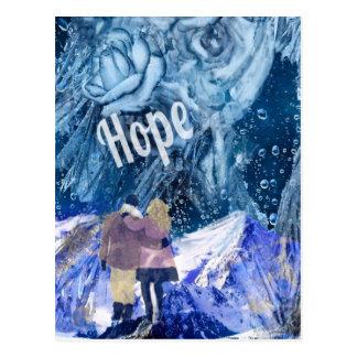 De liefde is de enige hoop in ons leven briefkaart