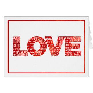 De liefde is de Geduldige Spatie van de Waterverf Briefkaarten 0
