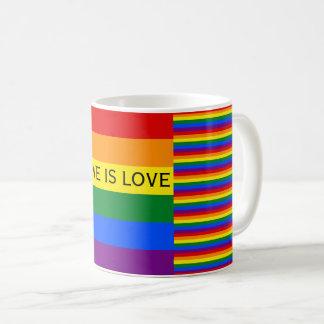 De liefde is de Vrolijke Trots van de Vlag LGBT Koffiemok