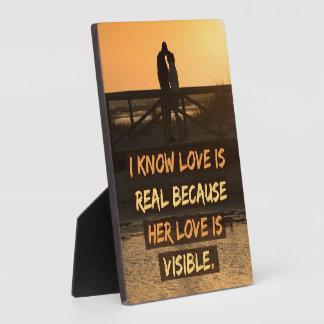 De liefde is Echt Fotoplaat