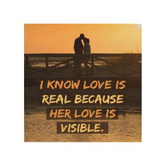 De liefde is Echt Hout Afdruk