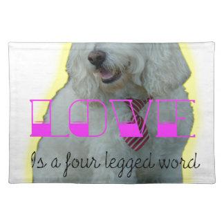 De liefde is een legged woord vier placemat