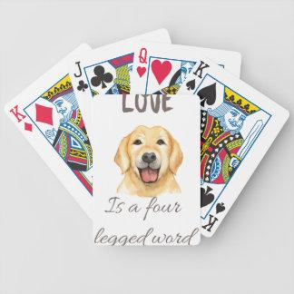 De liefde is een legged woord vier poker kaarten