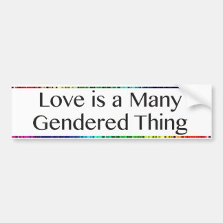 De liefde is een Vele Sticker van de Bumper van