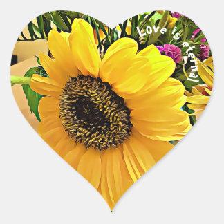 De LIEFDE IS EEUWIG, hart gevormde Hart Sticker