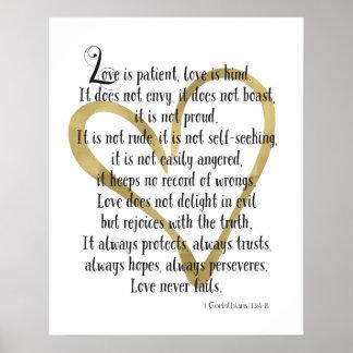 De liefde is Geduldig Hart Poster