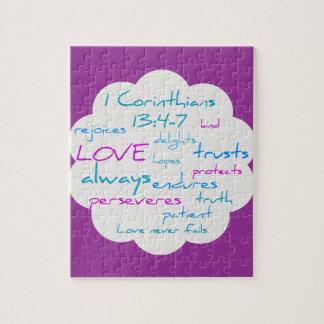 De liefde is Geduldig, is de Liefde Vriendelijk Puzzel