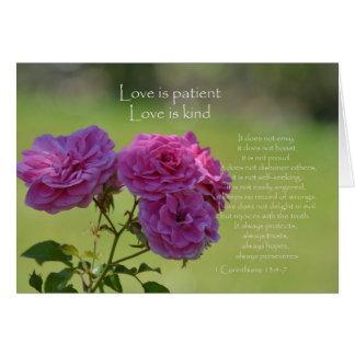 De liefde is Geduldige Rozen Briefkaarten 0