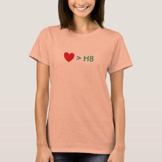 De liefde is groter dan H8 T Shirt