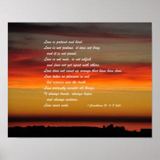De liefde is het Geduldige Poster van de Muur van