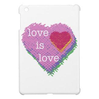 De liefde is het MiniHoesje van het Hart van de Hoesjes Voor iPad Mini