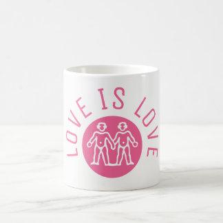 De liefde is het Roze Logo van de Trots LGBT van Koffiemok