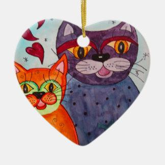 De liefde is in de lucht keramisch hart ornament