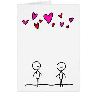 De liefde is in de Lucht voor Twee Wenskaart