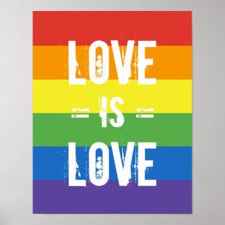 De liefde is Liefde - houd van de Vlag van de Poster