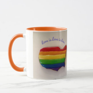 De liefde is Liefde is de Mok van de Liefde LGBT