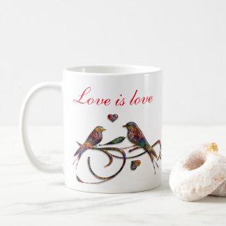 De liefde is liefde (met dwergpapegaaien) koffiemok