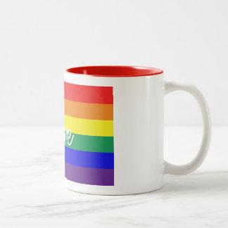 De liefde is Liefde Tweekleurige Koffiemok