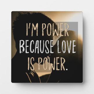 De liefde is Macht Fotoplaat