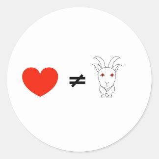 De liefde is niet Geen Geitebok Ronde Stickers