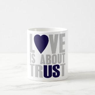 De liefde is over Vertrouwen Koffiemok
