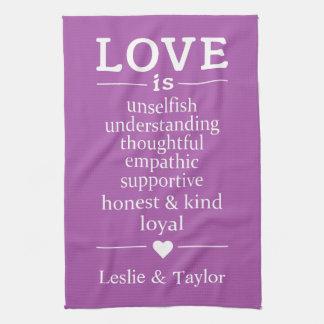 De liefde is… van de douanenamen & kleur theedoeken