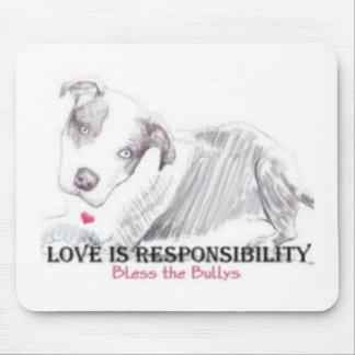 De liefde is Verantwoordelijkheid mousepad Muismatten
