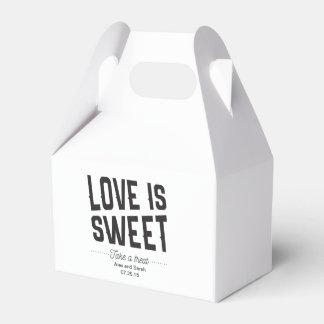De liefde is zoete doos voor het huwelijk van het bedankdoosjes