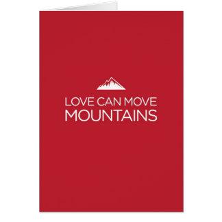 De liefde kan het Wenskaart van Bergen bewegen