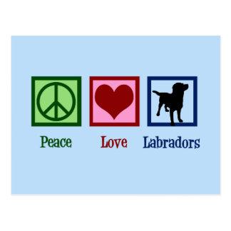 De Liefde Labrador van de vrede Briefkaart