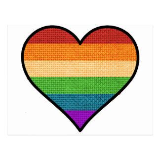 De Liefde LGBT is het Hart van de Regenboog van de Briefkaart